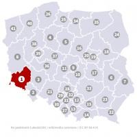 Okręg wyborczy nr 1 (Legnica, dolnośląskie) - wybory 2015