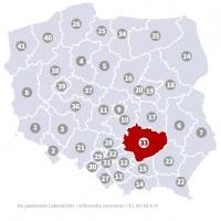 Okręg wyborczy nr 33 (Kielce, świętokrzyskie) - wybory 2015
