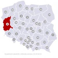 Okręg wyborczy nr 8 (Zielona Góra, lubuskie) - wybory 2015
