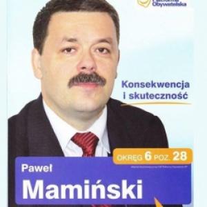 Paweł Mamiński - informacje o kandydacie do sejmu