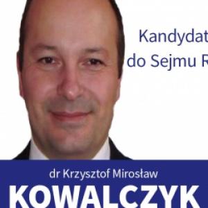 Krzysztof Mirosław Kowalczyk - informacje o kandydacie do sejmu
