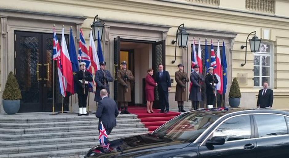David Cameron z wizytą w Polsce