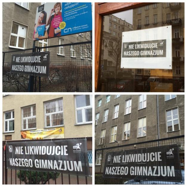 Protesty przeciwko likwidacji gimnazjów. Źródło: twitter.com/pozdromek