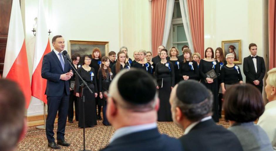 Prezydent: Cieszy mnie, że Polacy wspierają odrodzenie kultury żydowskiej
