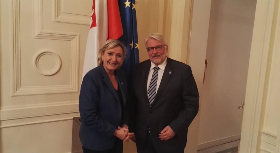 Waszczykowski spotkał się w Paryżu z Marine Le Pen