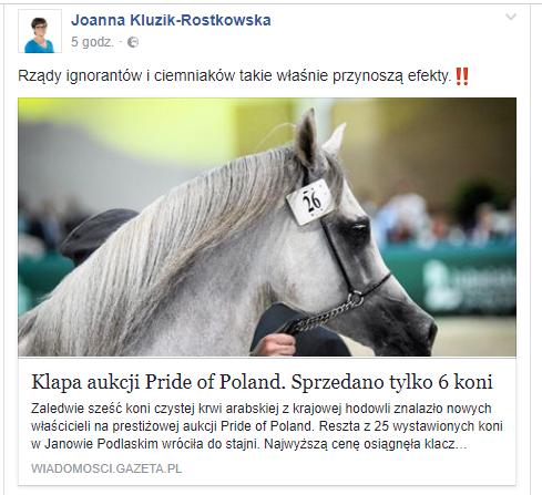 źródło: facebook Joanna Kluzik-Rostkowska