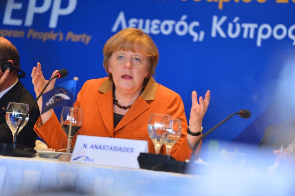 Angela Merkel znalazła się na pierwszym miejscu w rankingu najbardziej wpływowych kobiety w polityce (fot.Europejska Partia Ludowa/flickr.com/CC BY 2.0)