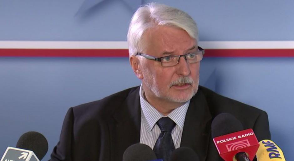 Witold Waszczykowski: Nigdy nie zgodzimy się, by postawić znak równości między UPA a AK