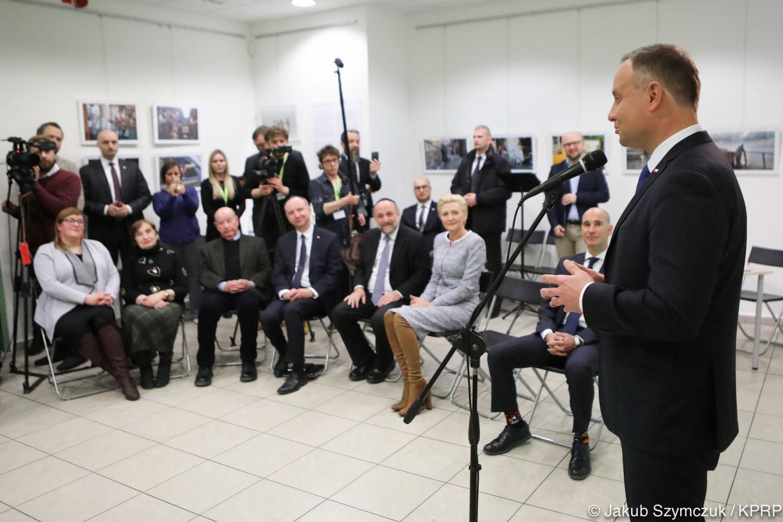 Spotkanie w Centrum Społeczności Żydowskiej w Krakowie (fot.prezydent.pl/Jakub Szymczuk)