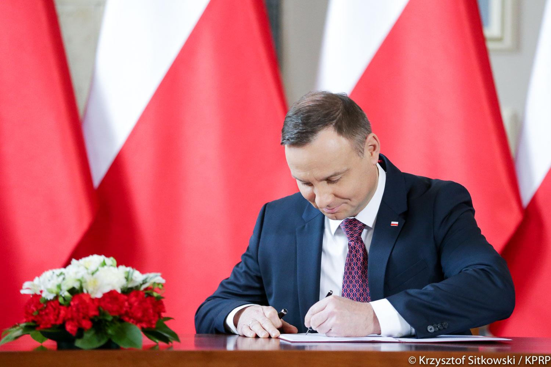 Prezydent Andrzej Duda podpisał nowelizację ustawy o IPN 6 lutego 2018 r. (Andrzej Duda, fot.prezydent.pl/Krzysztof Sitkowski)