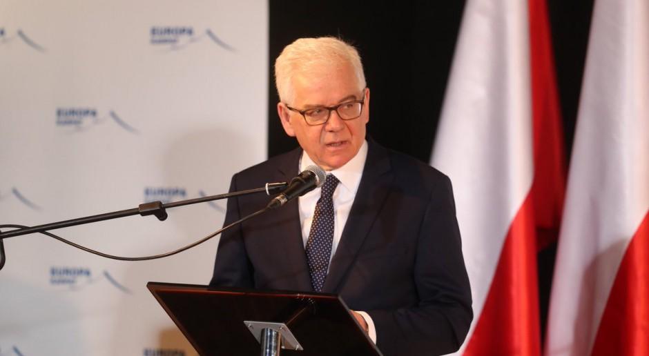 Jacek Czaputowicz o INF: musi być zdecydowana odpowiedź NATO na działania Rosji, ale nie symetryczna