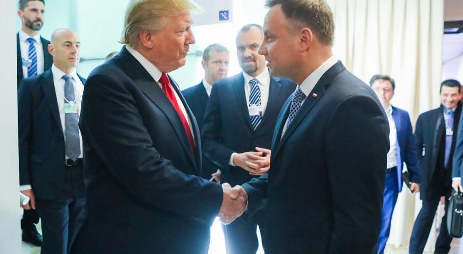 Ostatnie spotkanie Andrzeja Dudy i Donalda Trumpa w Davos w 2018 r., źródło: Jakub Szymczuk, Kancelaria Prezydenta RP/flickr.com/CC