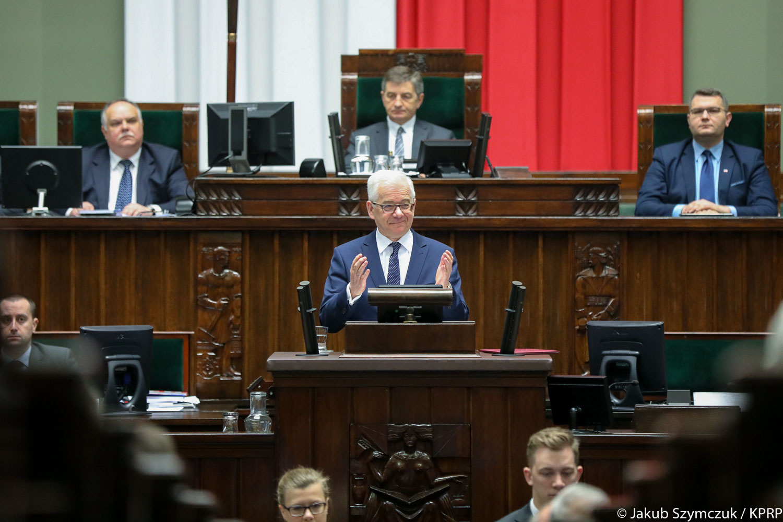 W środę (21 marca) szef MSZ Jacek Czaputowicz wygłosił w Sejmie expose ws. polityki zagranicznej rządu w 2018 r. (fot.prezydent.pl/Jakub Szymczuk)