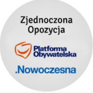 Zjednoczona Opozycja (PO+Nowoczesna) - poparcie w sondażach przed wyborami parlamentarnymi 2019
