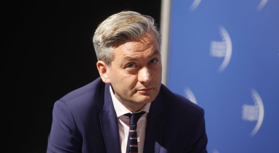 Robert Biedroń na kongresie Partii Europejskich Socjalistów w Madrycie