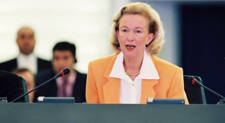 Nicole Fontaine, francuska polityk, przewodnicząca Parlamentu Europejskiego w latach 1999–2002. Zmarła 17 maja 2018, źródło: twitter.com/Europarl_PL