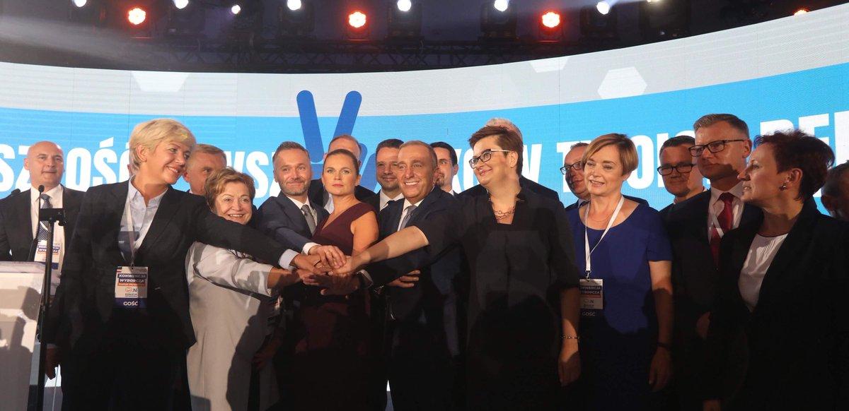 Liderzy Koalicji Obywatelskiej w sobotę, gdy dołączyła do nich Barbara Nowacka. (fot. twitter.com/platforma_org)