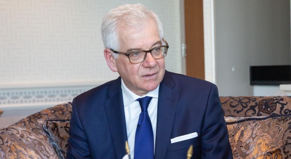 Szef MSZ o inicjatywach na rzecz przestrzegania prawa humanitarnego