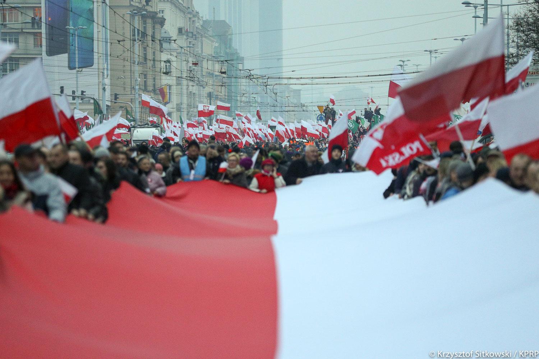 98 proc. respondentów prawidłowo wskazało, że 11 listopada było obchodzone Święto Niepodległości (fot.prezydent.pl/Krzysztof Sitkowski)