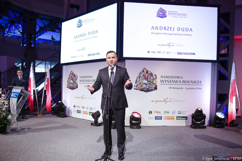 To właśnie polscy chłopi, ludzie polskiej wsi powiedzieli nie kolektywizacji - zaznaczył prezydent Andrzej Duda (fot.prezydent.pl/Igor Smirnow)