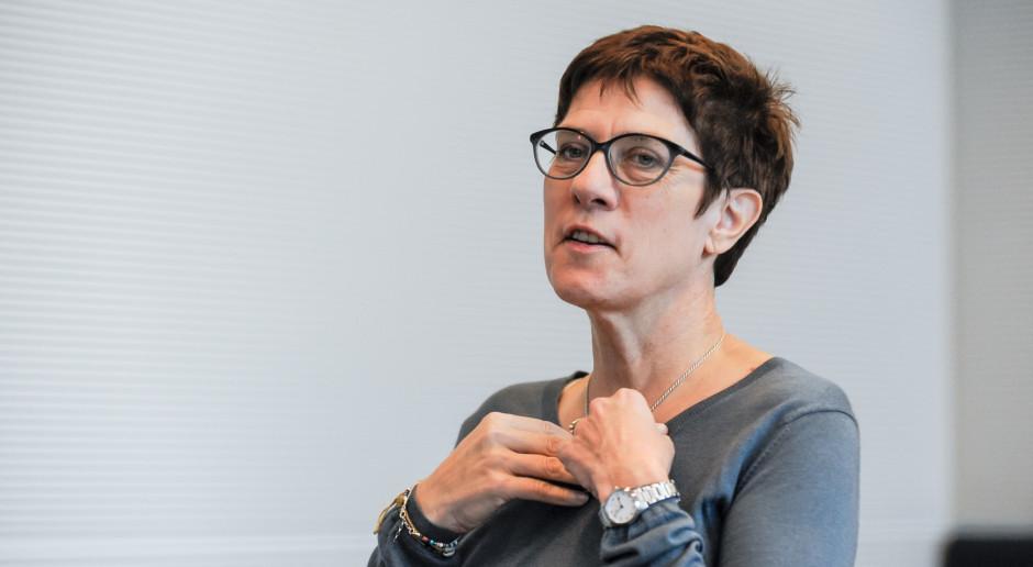 Annegret Kramp-Karrenbauer zostanie nowym ministrem obrony Niemiec