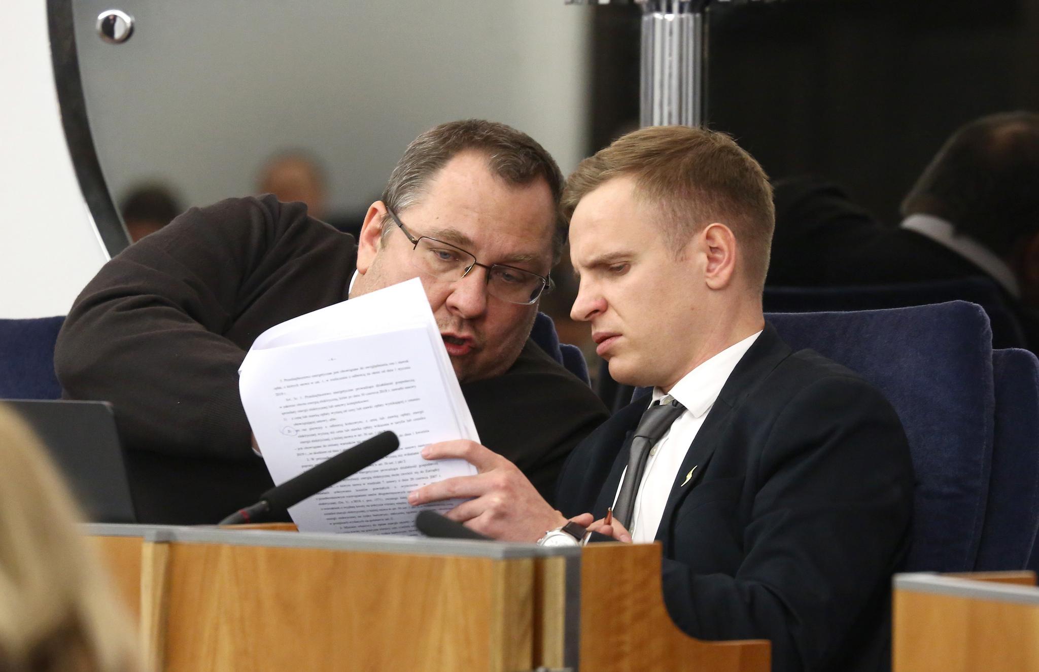 Politycy na 70. posiedzenie Senatu (fot. Katarzyna Czerwińska/Kancelaria Senatu)