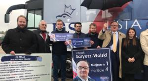 PiSbus ruszył w Warszawę, a w nim kandydaci do PE