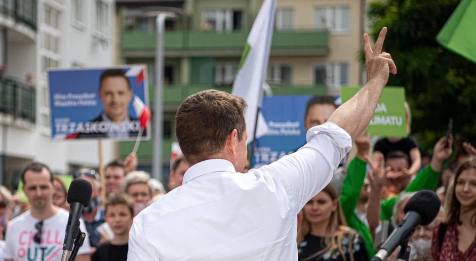 Trzaskowski będzie zabiegać o wyborców Bosaka, Hołowni i Biedronia