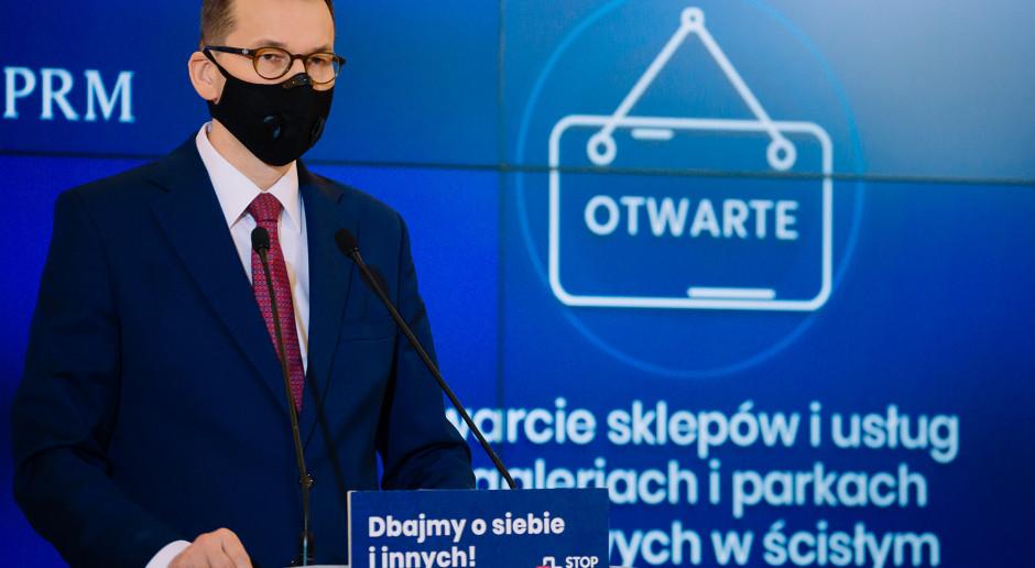 Premier: Placówki handlowe będą mogły działać w najwyższym reżimie sanitarnym