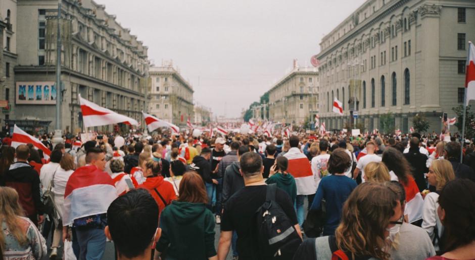 Miał miejsce protest Białorusinów przebywających w Polsce w pobliżu przejścia granicznego w Koroszczynie