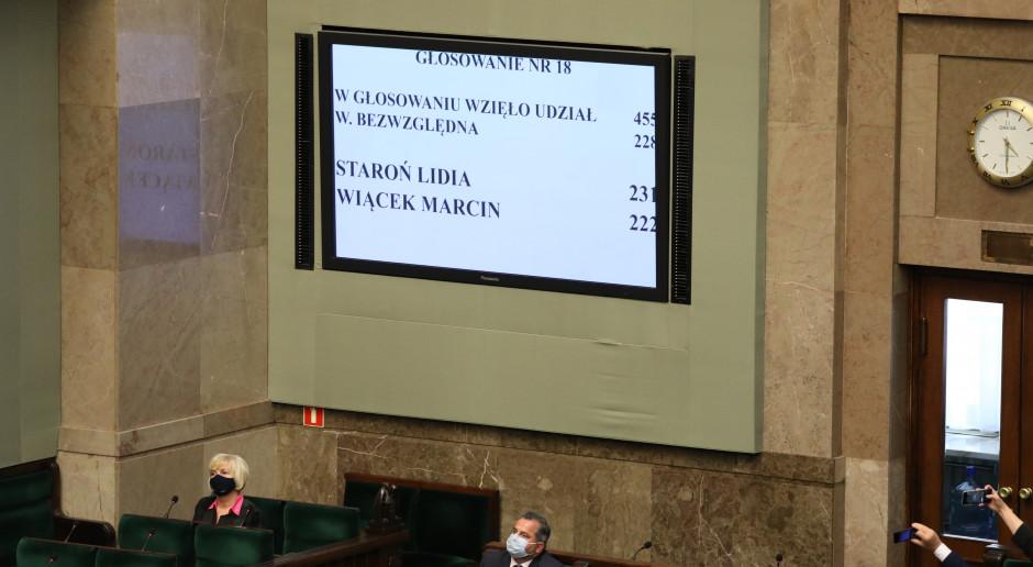 """Głosowanie na RPO: """"Wśród posłów nie było dyscypliny"""""""
