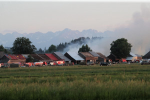 Wielki pożar we wsi Nowa Biała