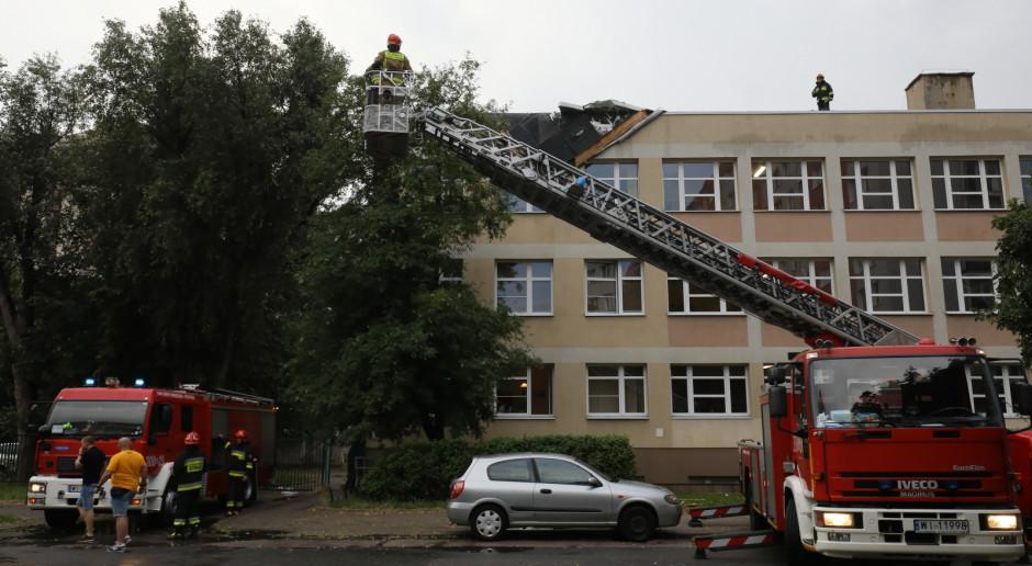 PSP: Ostatniej doby strażacy interweniowali ponad tysiąc razy w związku z burzami