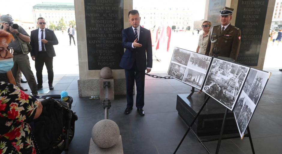 Błaszczak: Hołd i opieka nad powstańcami warszawskimi jest naszym obowiązkiem