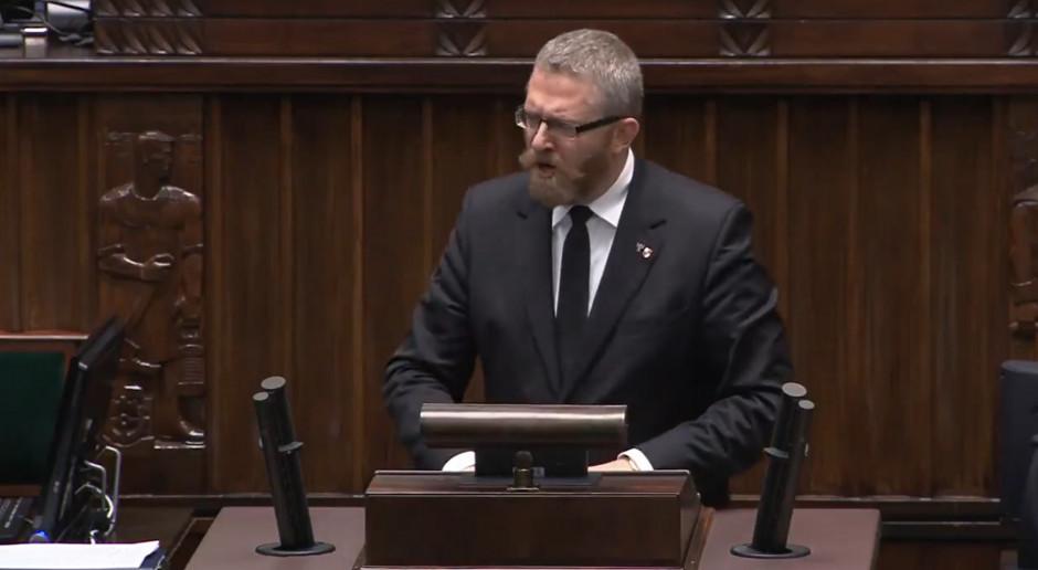 Grzegorz Braun wykluczony z posiedzenia Sejmu